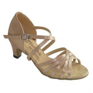 161303b Girls Ballroom & Latin Shoes Girls Ballroom and Latin dance shoes in nude color and low heel.