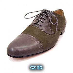 "cz110-2 Cachafaz 110 | Morena Dancewear Danzarte Men Tango Shoes, model Cachafaz 110 in green leather. Available in 1.0"" and 1.6""."